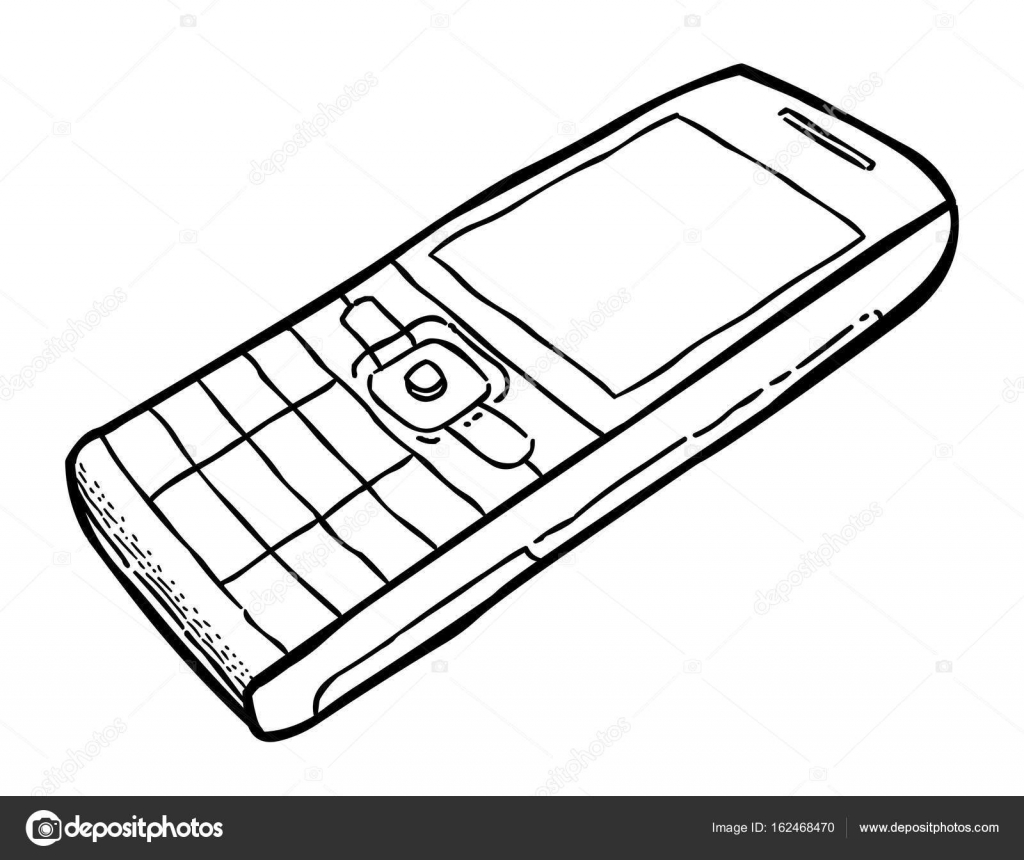 Cartoon Image Of Cellphone Stock Vector C Lkeskinen0 162468470