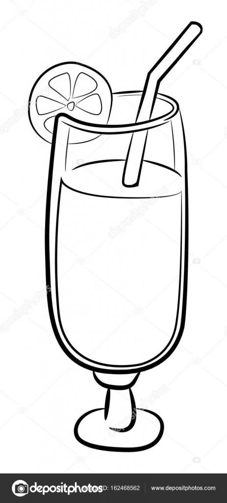 Image de dessin anim de cocktail ic ne symbole de verre - Dessin cocktail ...