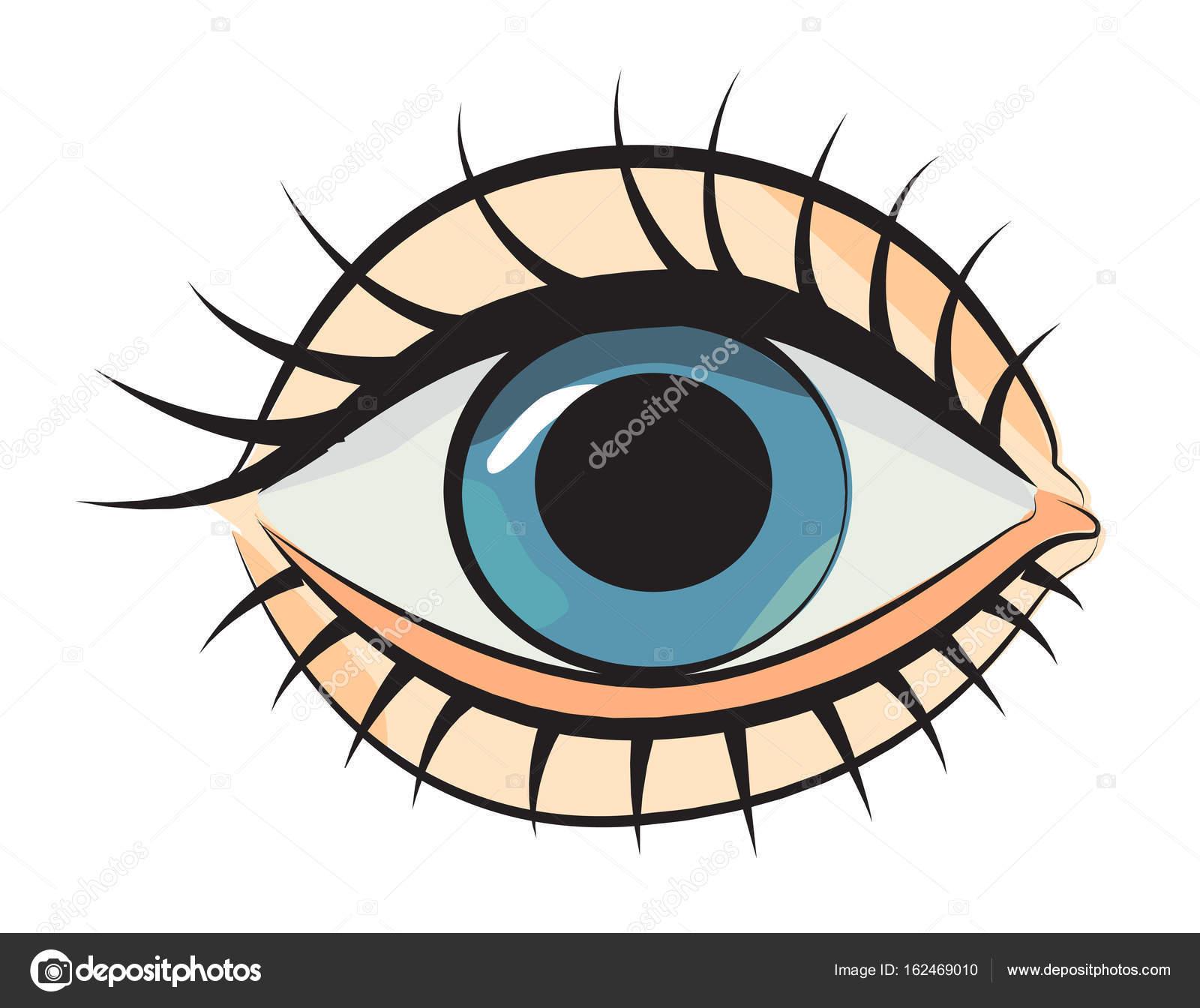 Ojo para caricatura caricatura de ojo vector de stock - Oeil a colorier ...