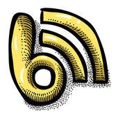 Kreslený obrázek ikony Blog. Blogování symbol
