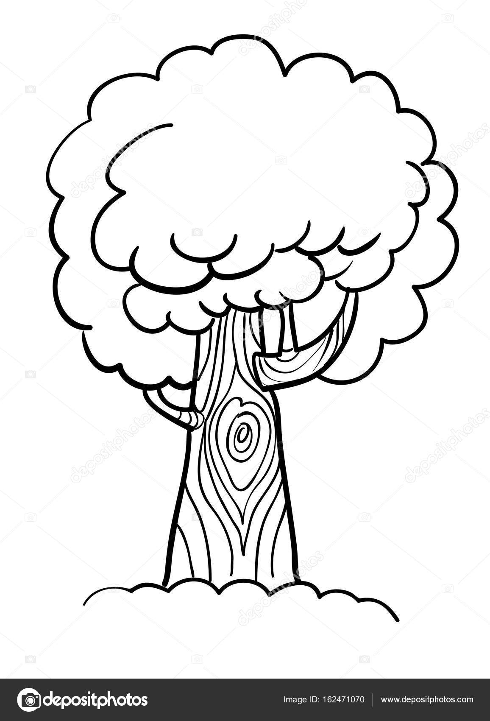 Cartoon Image Of Tree Icon Tree Symbol