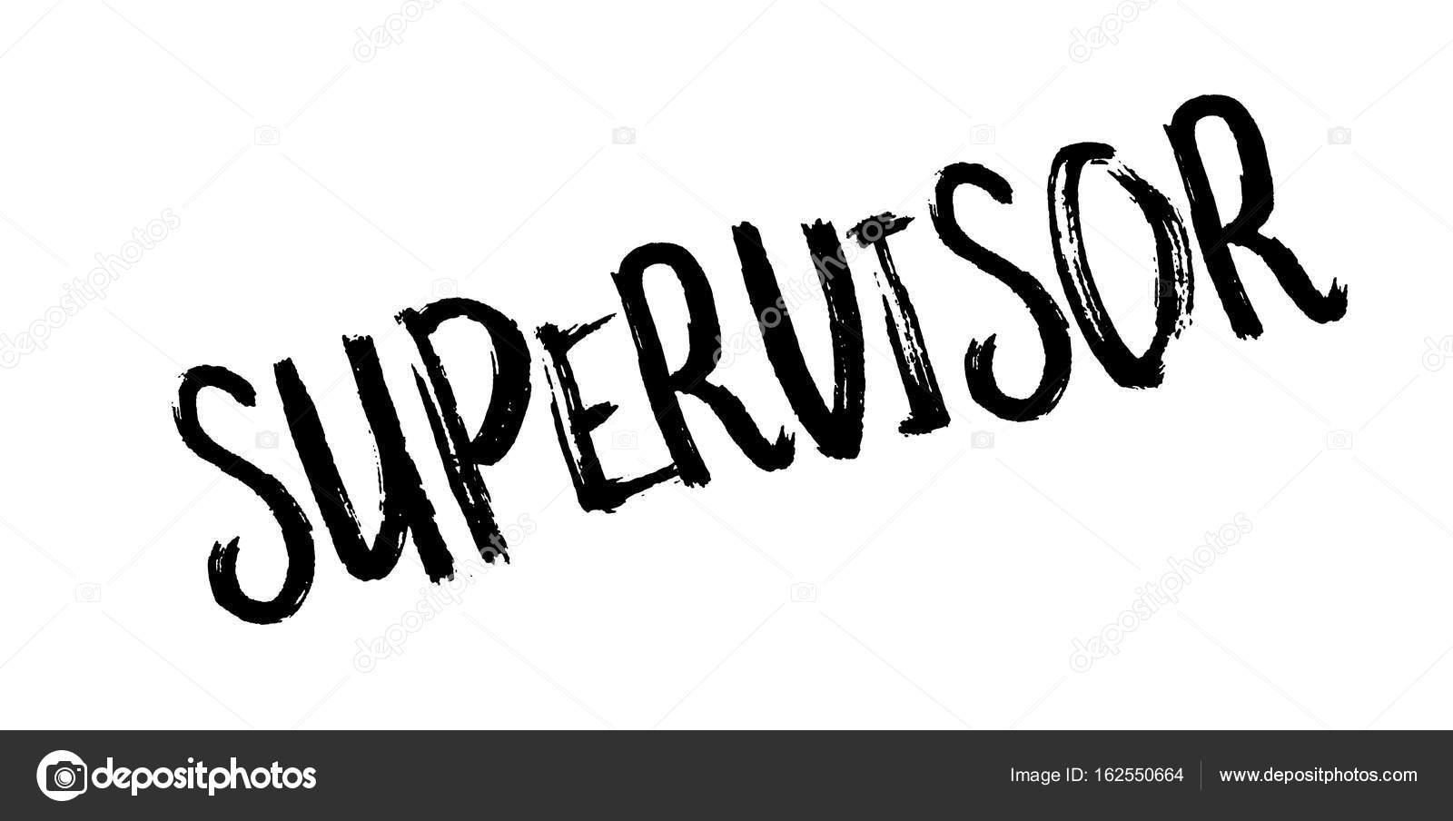 supervisor rubber stamp stock vector lkeskinen0 162550664