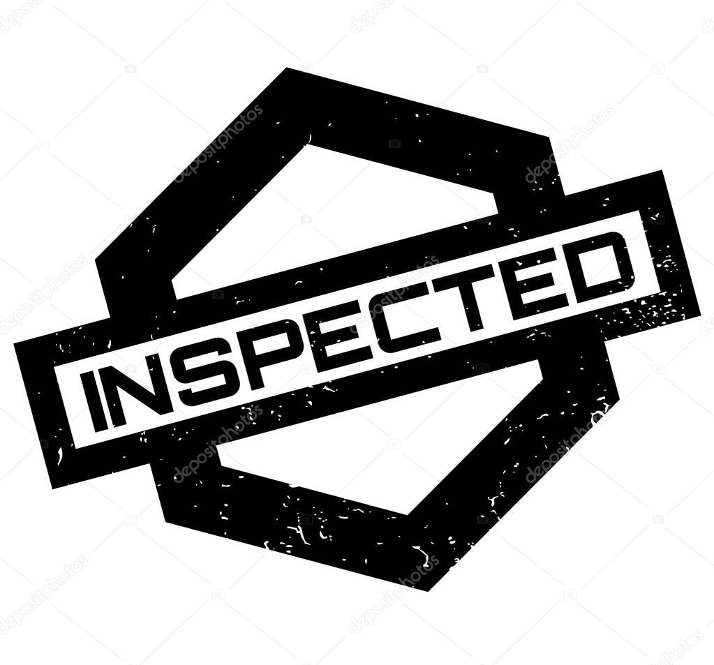 Inspected rubber stamp