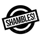 Fotografie Shambles rubber stamp