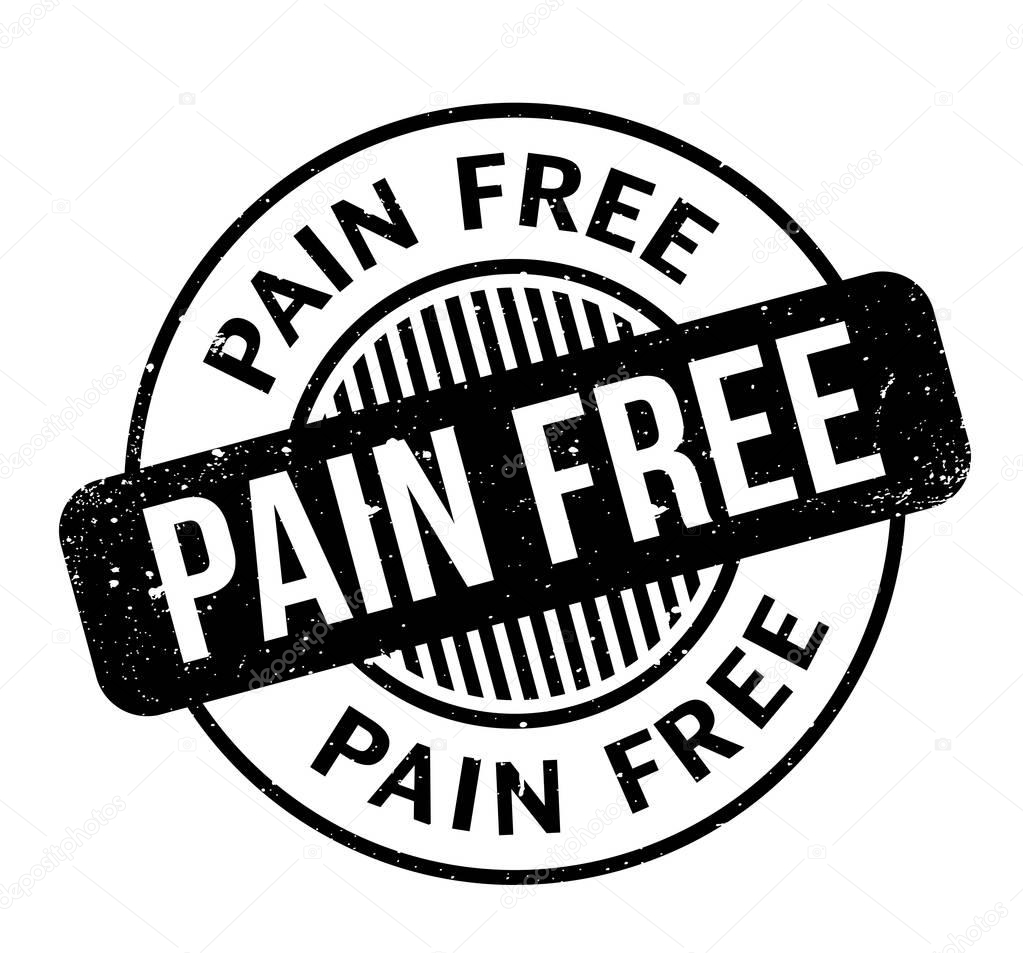 Pain Free rubber stamp
