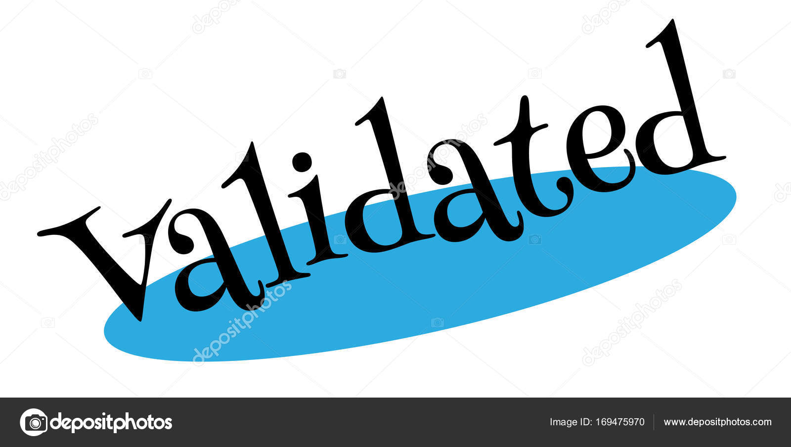 Validated Rubber Stamp Stock Vector