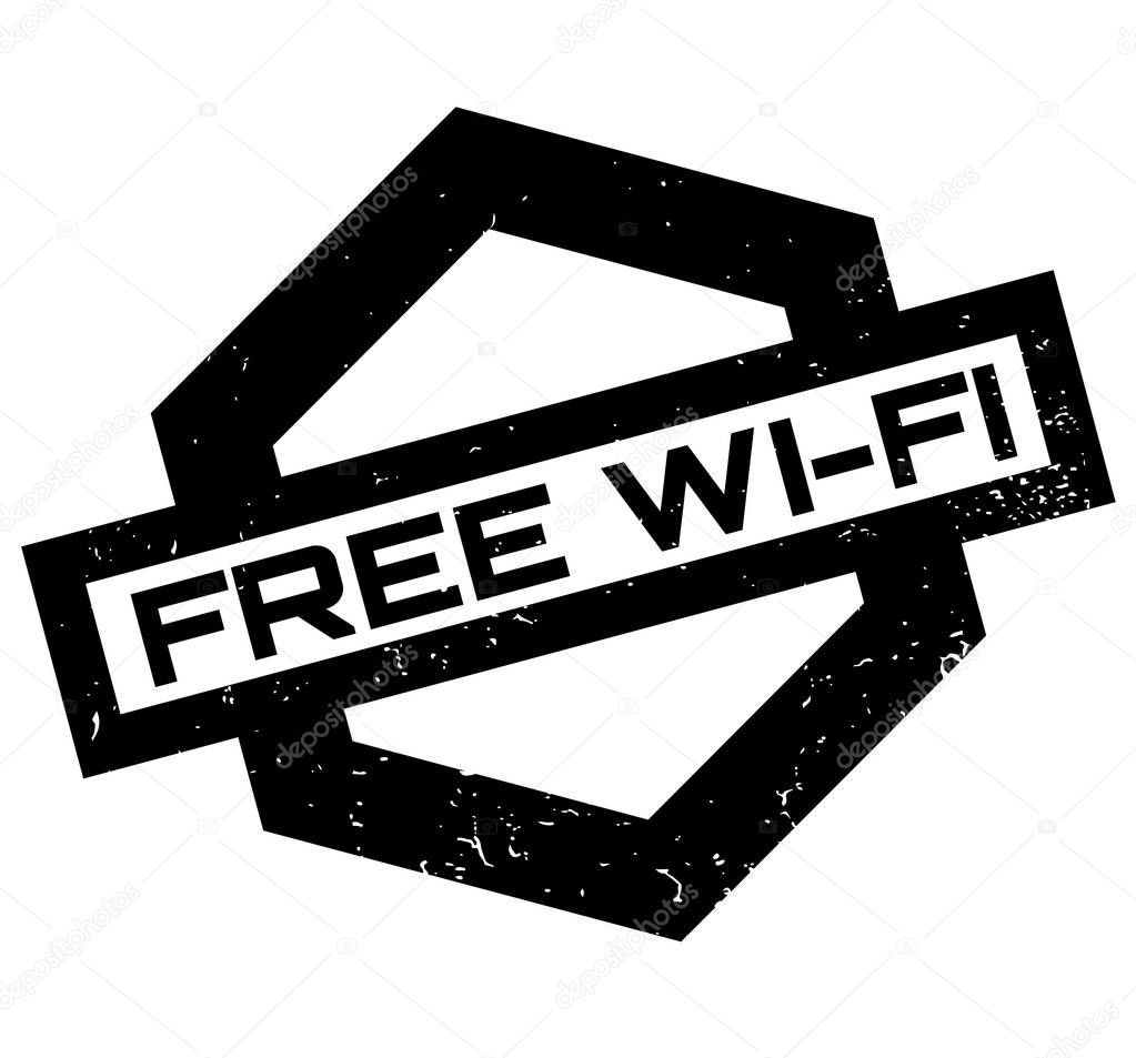 Free Wi-Fi rubber stamp