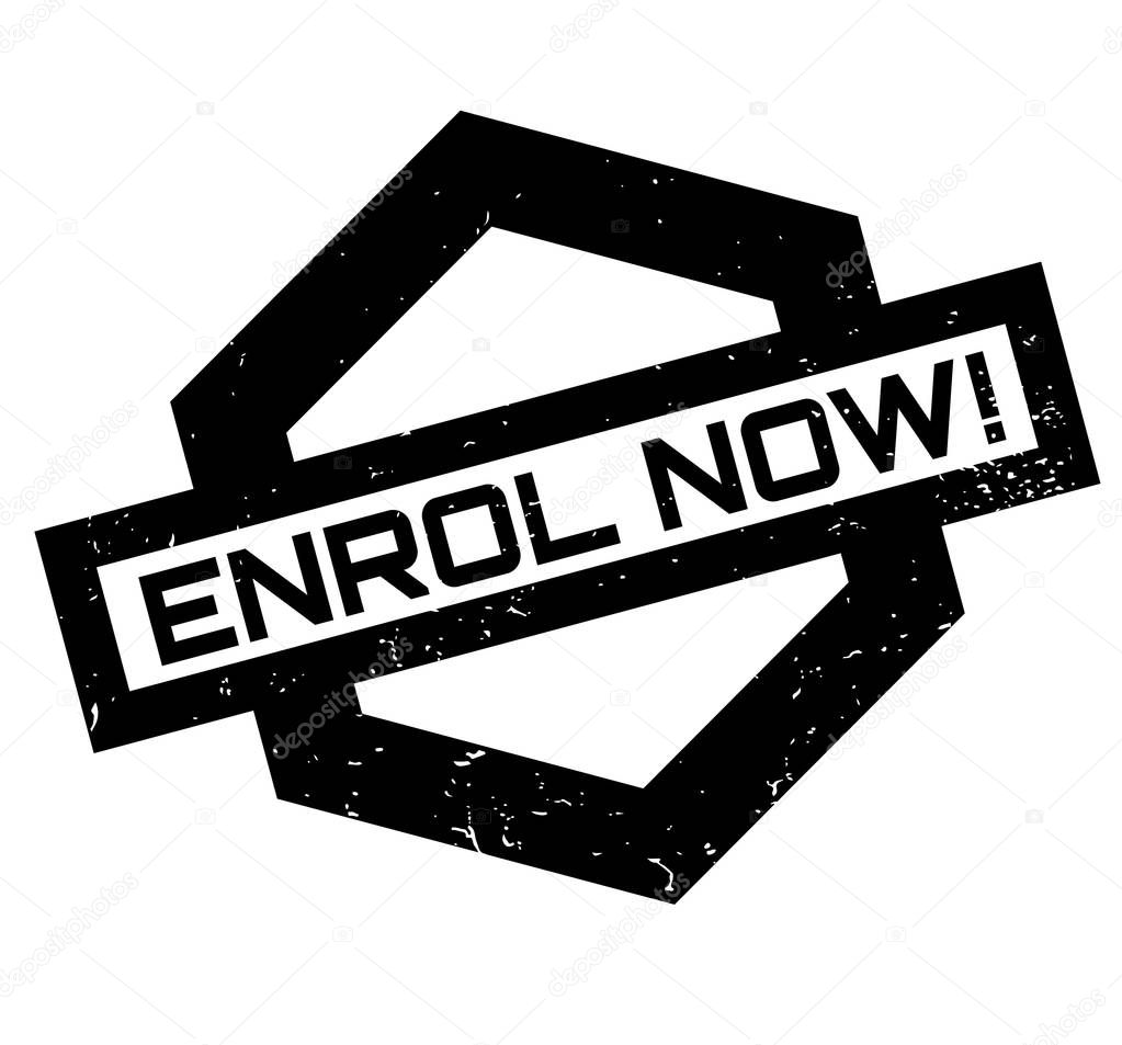 Enrol Now rubber stamp