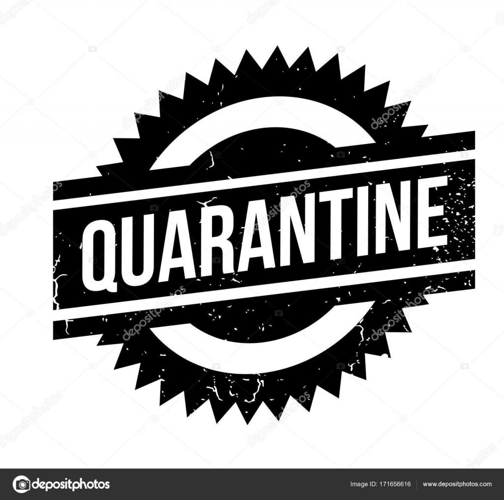 Quarantine Rubber Stamp Stock Vector Lkeskinen0 171656616