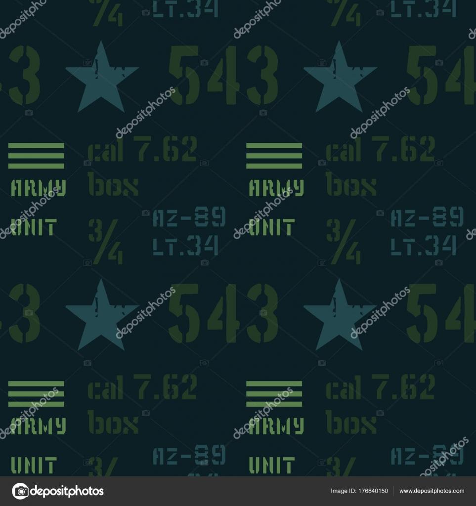 Armee-Einheit abstrakte militärische Muster — Stockvektor ...