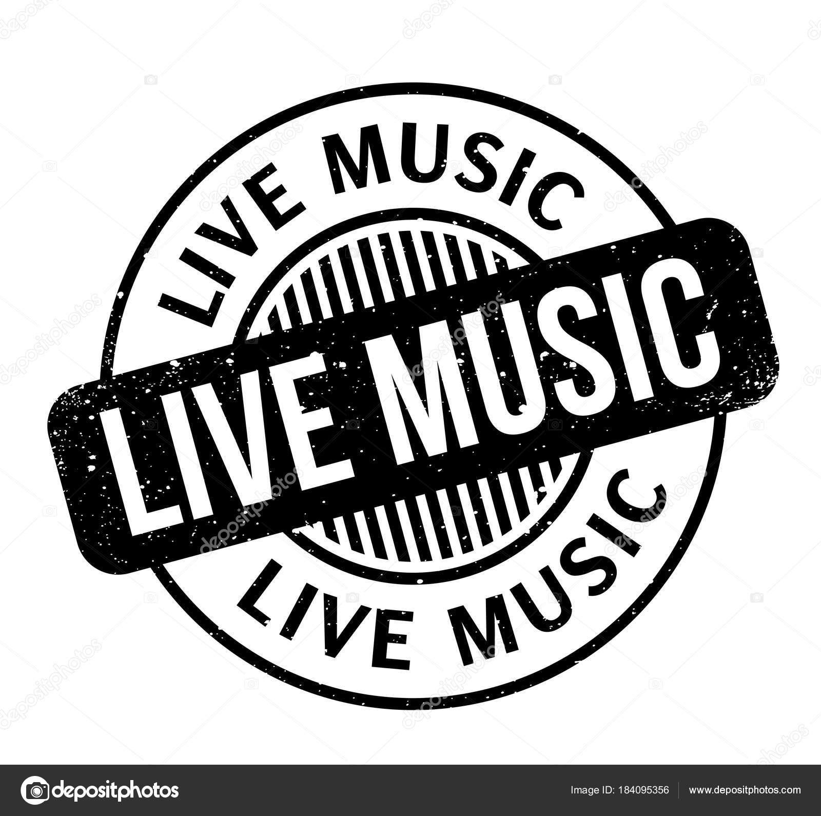 Live Music Rubber Stamp Stock Vector C Lkeskinen0 184095356