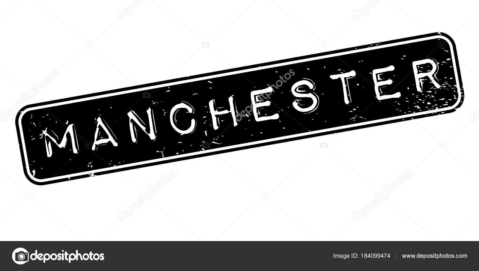 Manchester Rubber Stamp Stock Vector