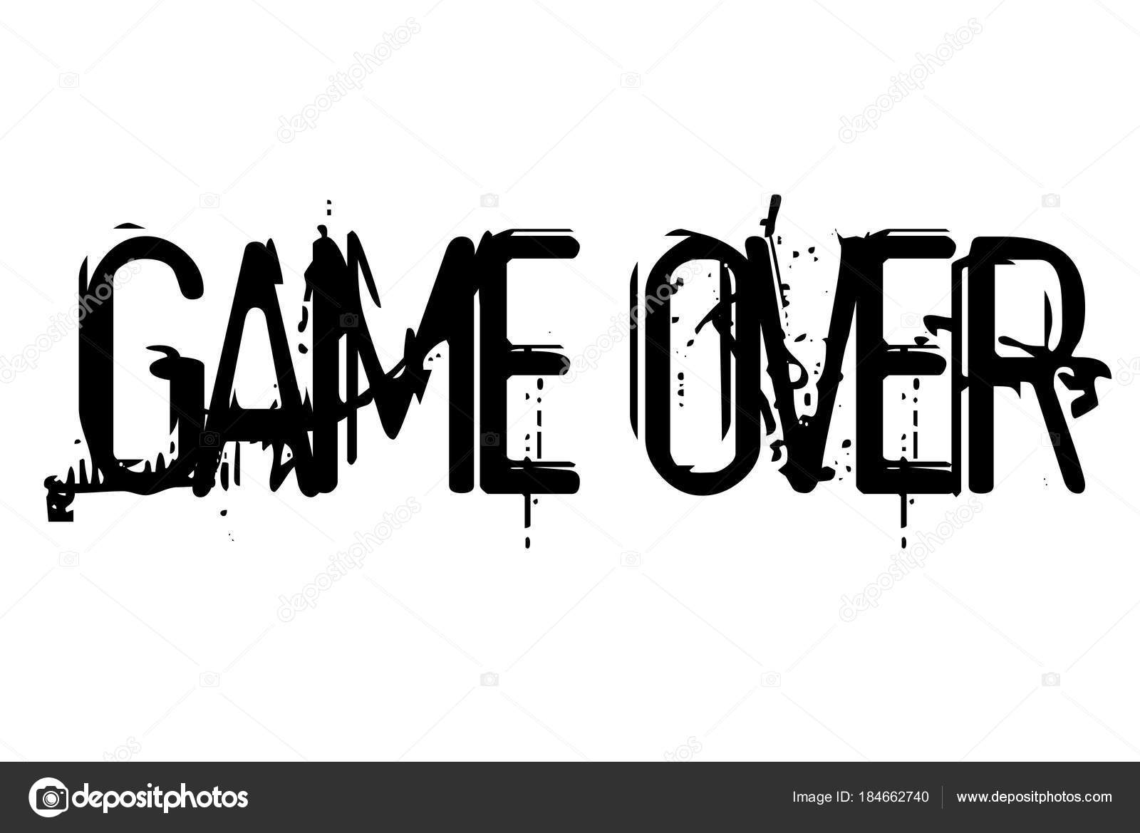 game over stamp typographic stamp stock vector lkeskinen0 184662740