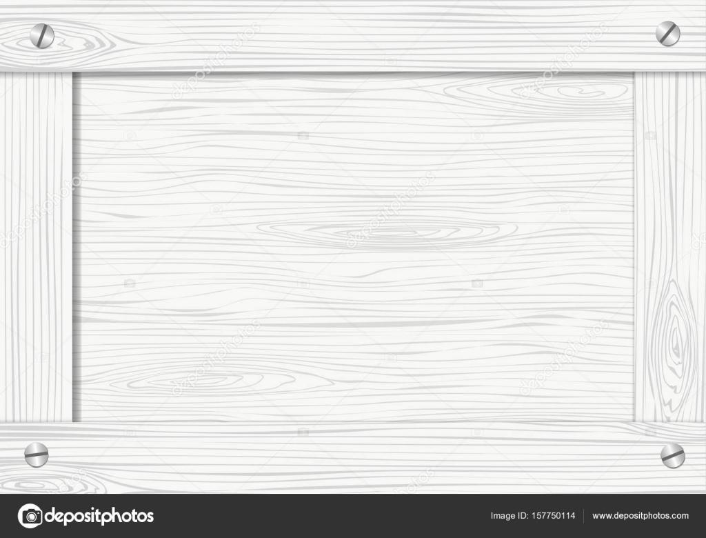 Laterales de cajón de madera blanca, cuadro o marco con tornillos ...