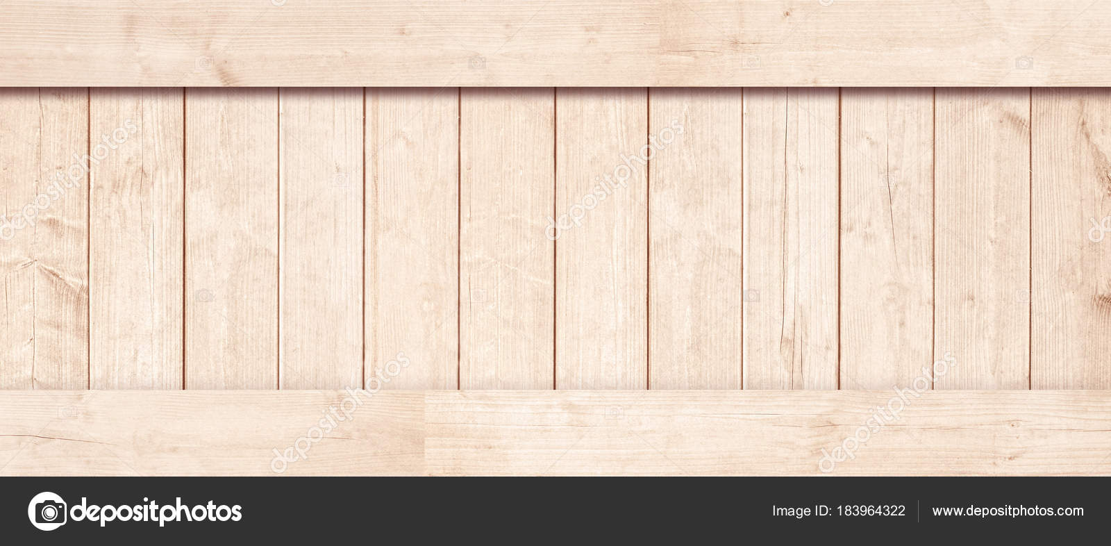 Side Of New Brown Wooden Crate Box Planks Floor Or Frame For Text