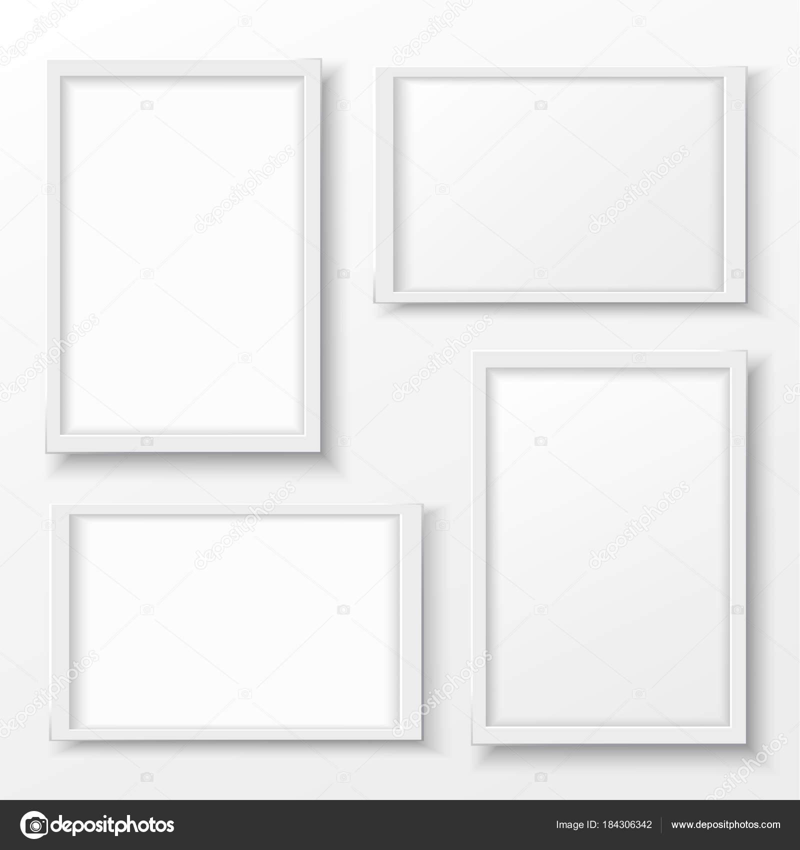 Weiße Kunststoff-Rahmen mit Schatten für Text oder Bild ...