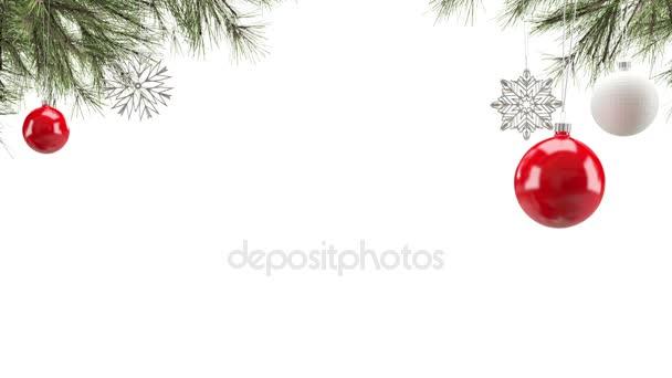 Vánoční dekorace pozadí smyčky
