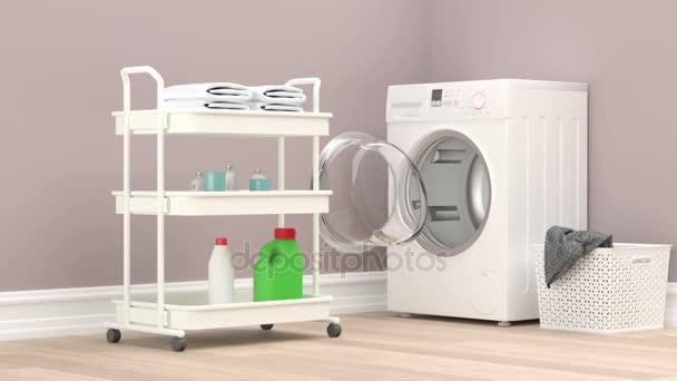 Modern mosoda szoba a mosó- és tisztítószerek