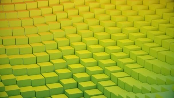 Abstraktní video pozadí kostky