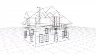 Blueprint landscape architect design backyard plan for villa stock building wire frame animation malvernweather Gallery