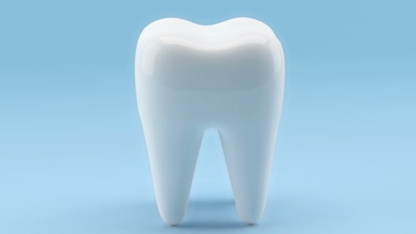 Tooth on a blue background video