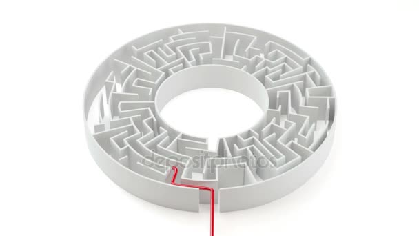 Red line moves in a labyrinth