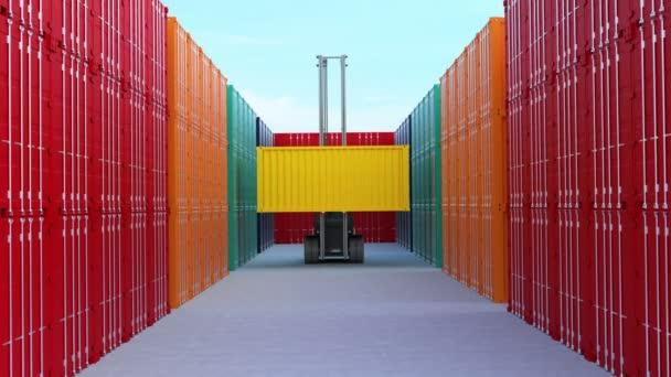 Vysokozdvižný vozík zvedací nákladní kontejner