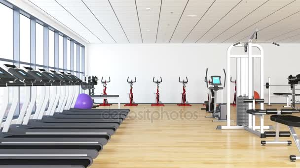 Fitness club equipment gym modern interior