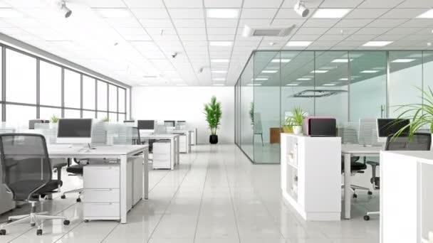 Moderní firemní pracovní prostor. Otevřít kancelář a zasedací místnost