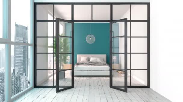 interiér moderní ložnice
