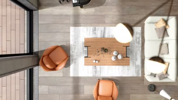 Top view of living room interior