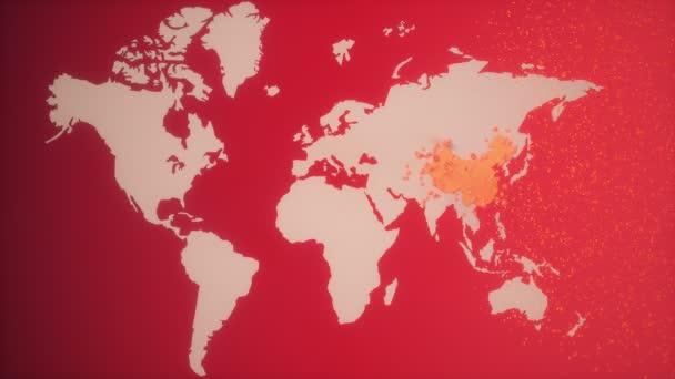 Virus Abstrakt s pozadím mapy světa