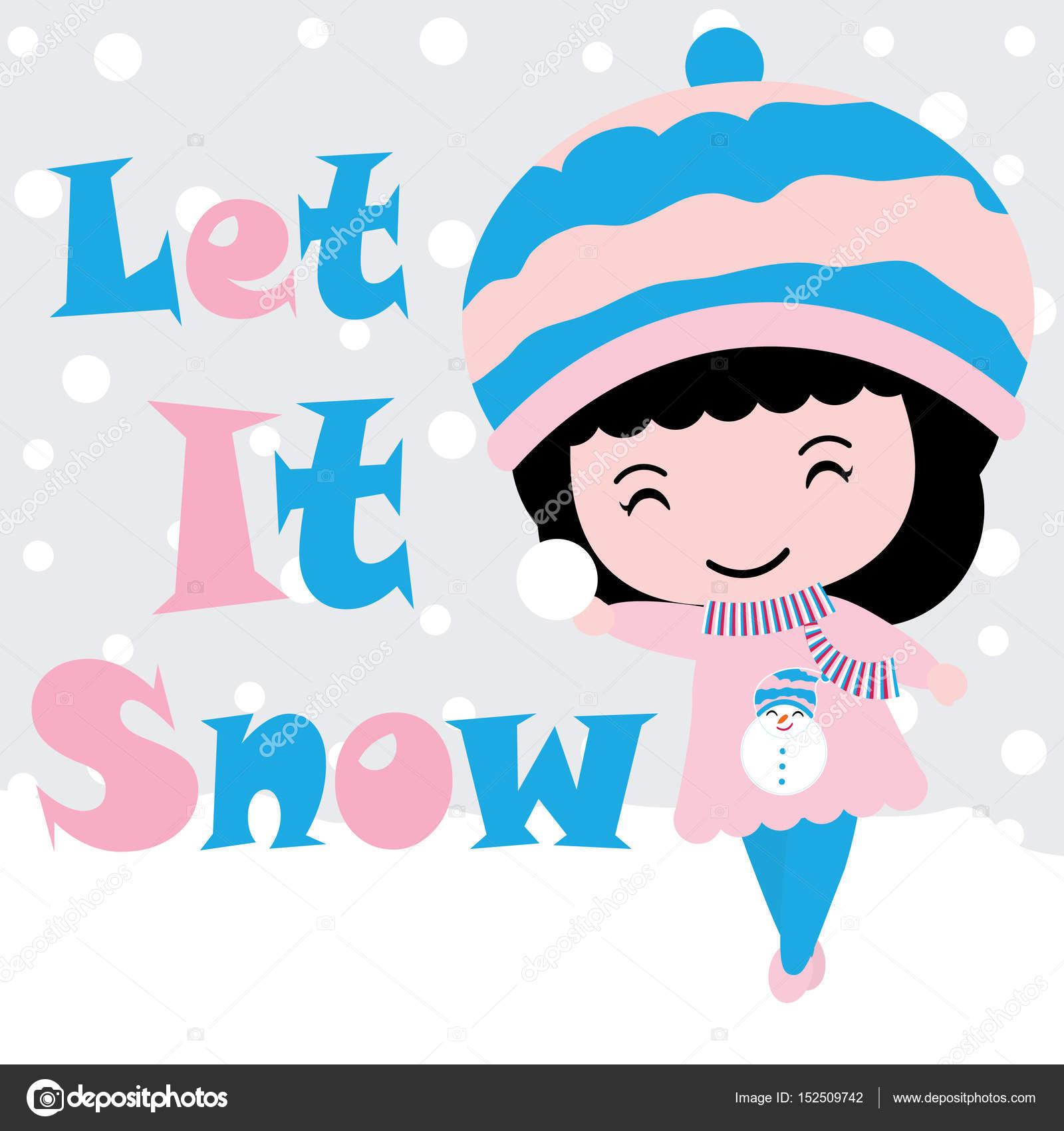 Dibujos Postales De Navidad De Animados Animados Muchacha Linda - Postales-navidad-dibujos