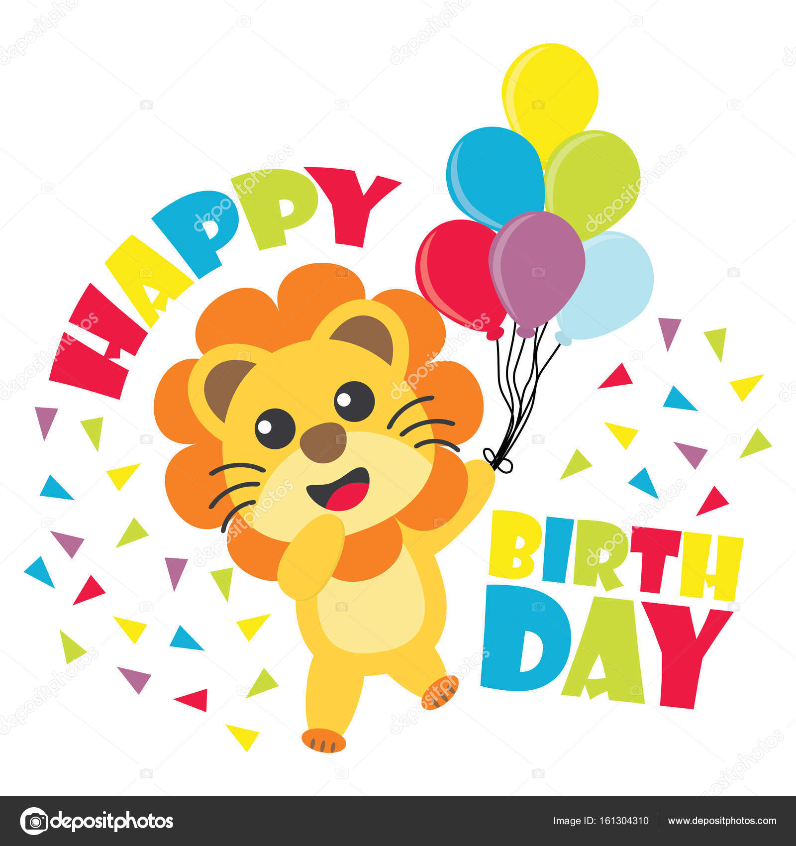 Birthday card with cute lion brings balloons vector cartoon birthday card with cute lion brings balloons vector cartoon illustration for kid birthday invitation stock bookmarktalkfo Choice Image