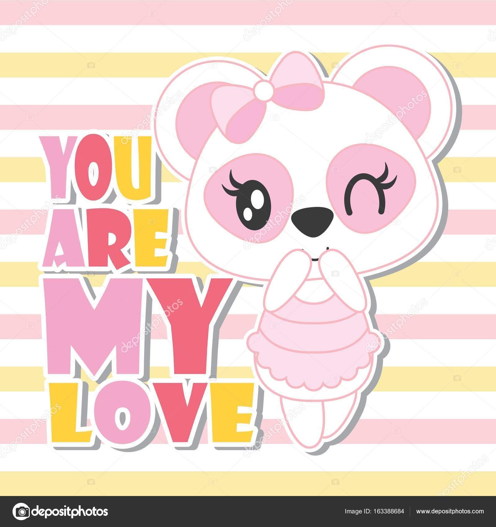 dc5ce6c9d84e9 Ilustração dos desenhos animados para bebê chuveiro cartão design, design  de camisa de t de criança e papel de parede de vetor bonito bebê panda com  meu ...