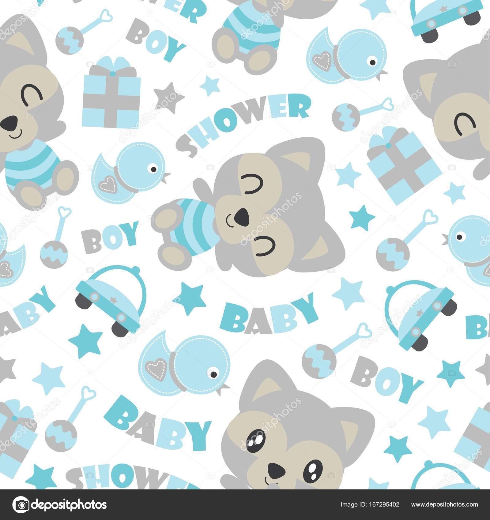 Dibujos: ropa de bebe para baby shower | Patrón sin fisuras de lindo ...