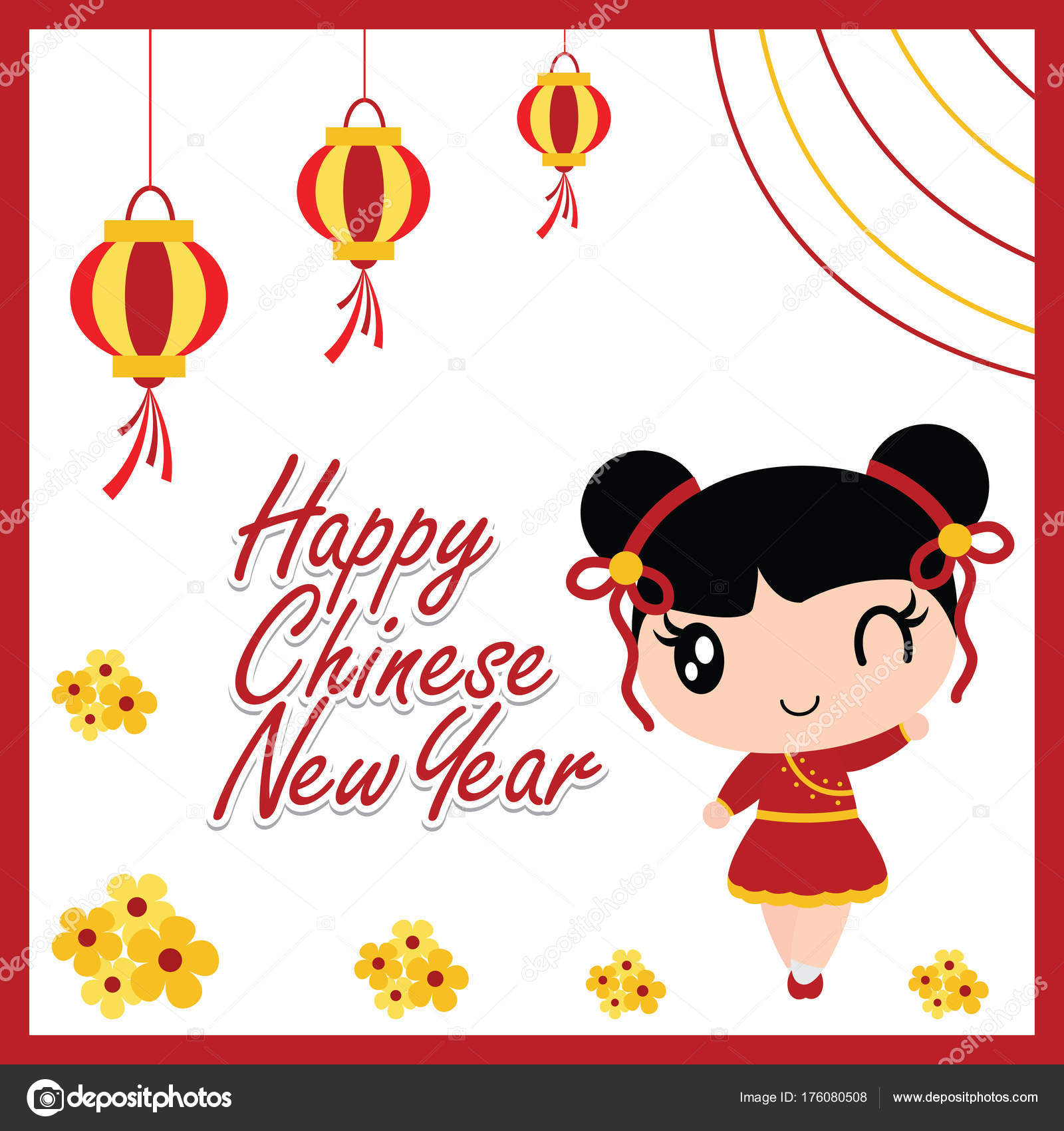 Cute asian girl wallpaper  Cute Chinese Girl Happy Red Lanterns
