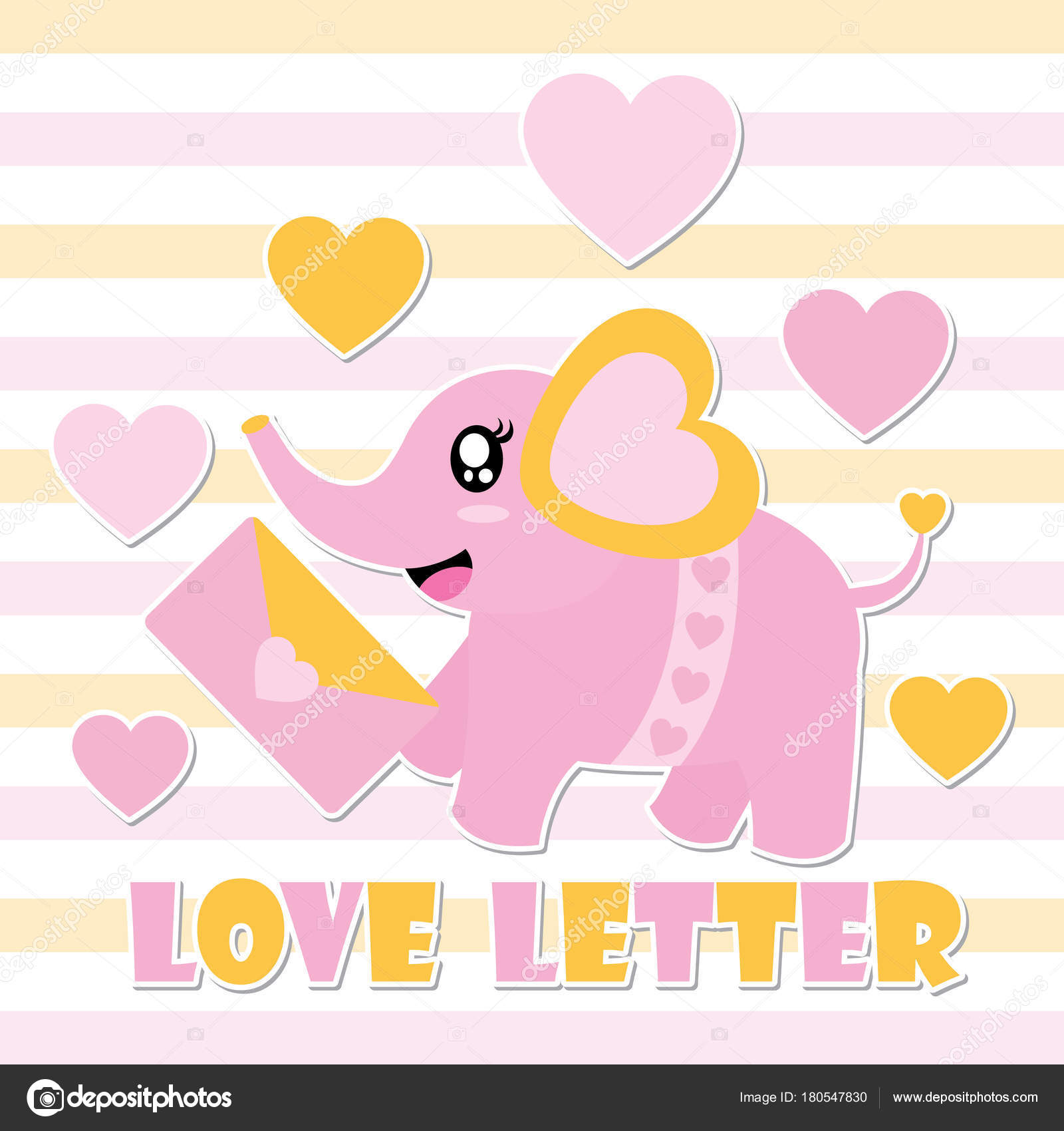 Most Inspiring Wallpaper Love Letter - depositphotos_180547830-stock-illustration-cute-baby-elephant-love-letter  Perfect Image Reference_583823.jpg