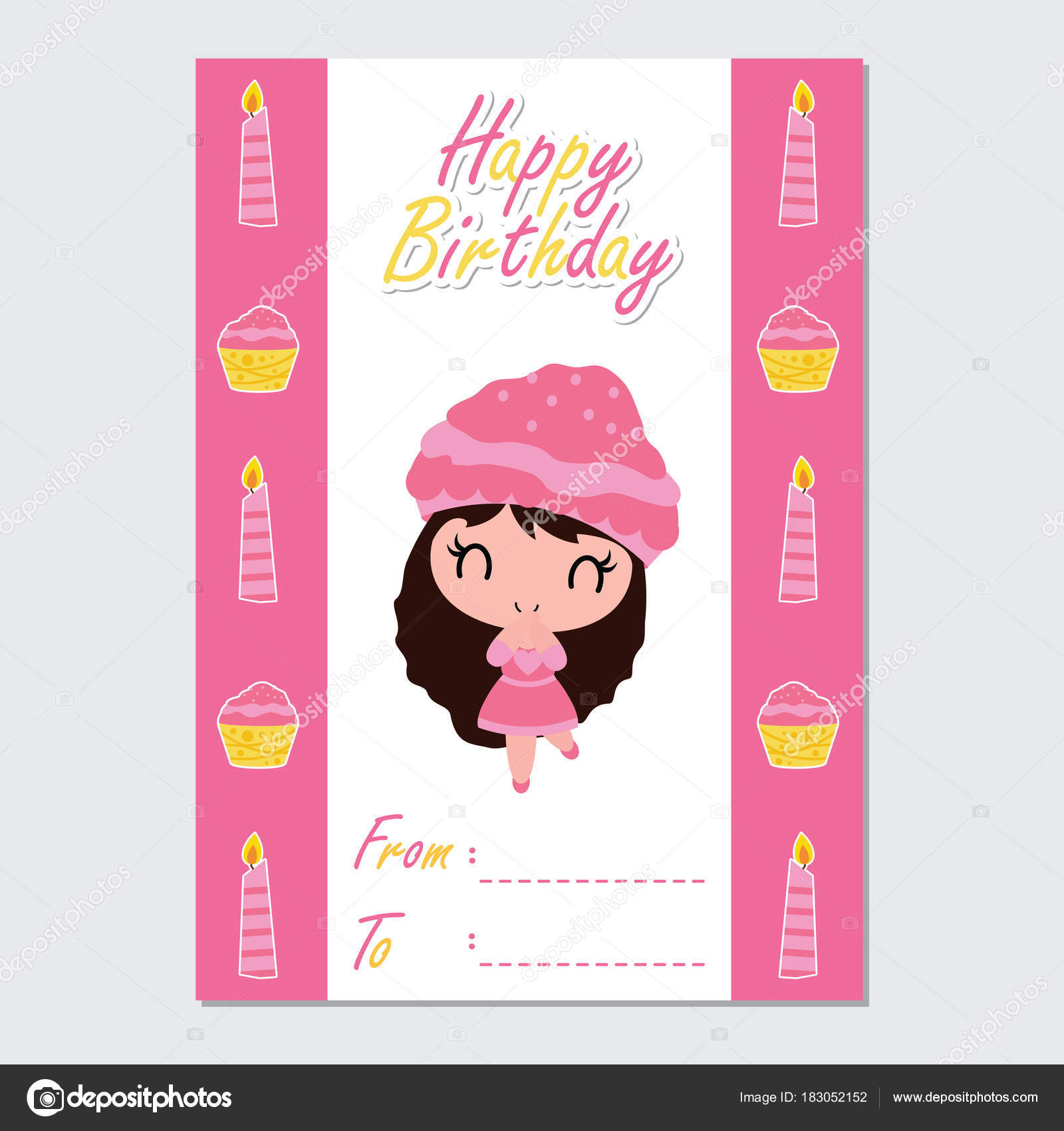 お誕生日おめでとうカード デザイン ポストカード 壁紙に