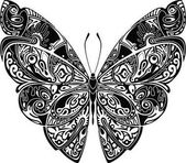 Photo Butterfly black and white