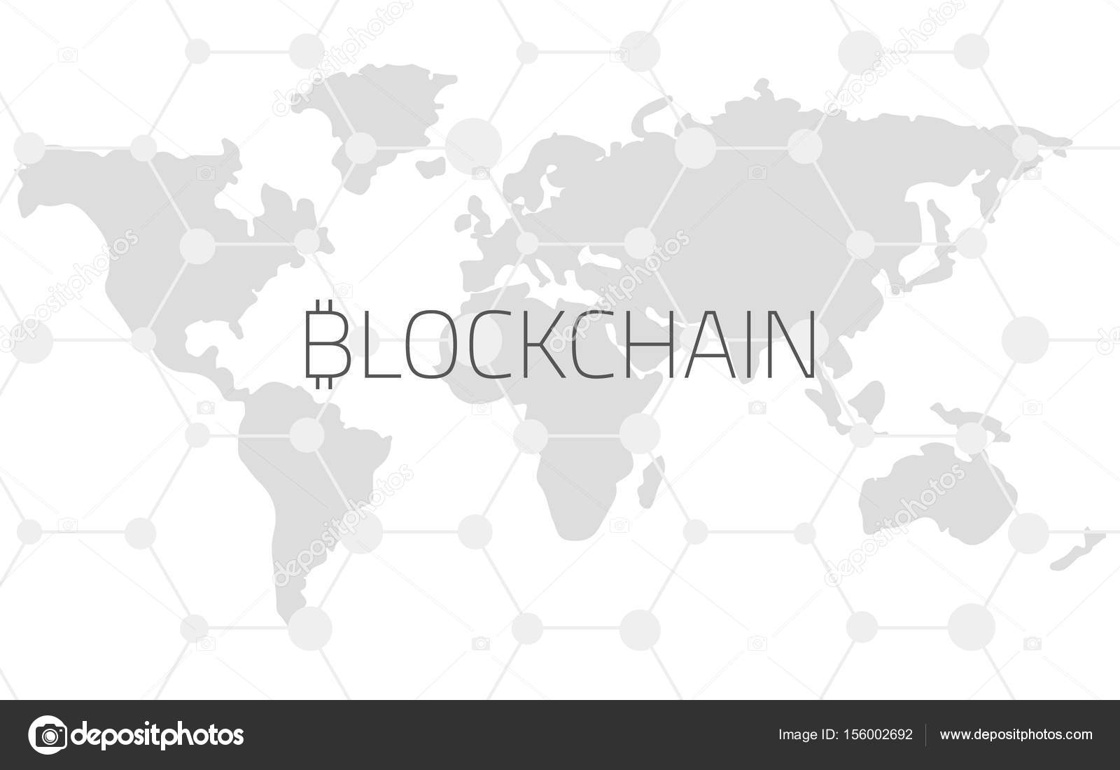 Blockchain on the background of the world map and links stock blockchain on the background of the world map and communication lines editable eps10 vector transparent background vector by vlsv gumiabroncs Images