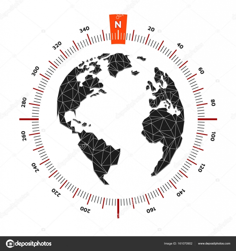 Globe world map compass nautical travel scale is 360 degrees globe world map compass nautical travel scale is 360 degrees stock vector gumiabroncs Choice Image