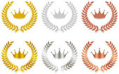 Photo Gold, silver, copper, crown emblem