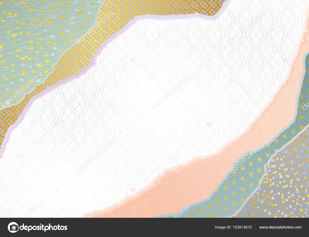 和紙。和風背景素材 — ストックベクター © alphabetmn #153913610