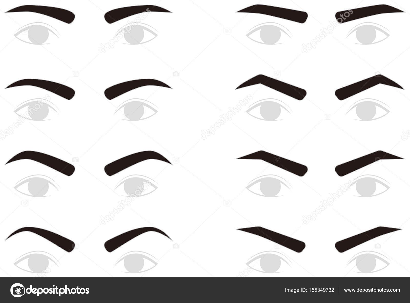 Cejas De Hombre eyebrows of men. trimming. — stock vector © alphabetmn