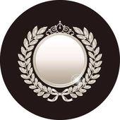 Fotografie silver laurel wreath and medal