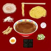Fotografie Soja-Sauce Ramen Material japanisches Essen