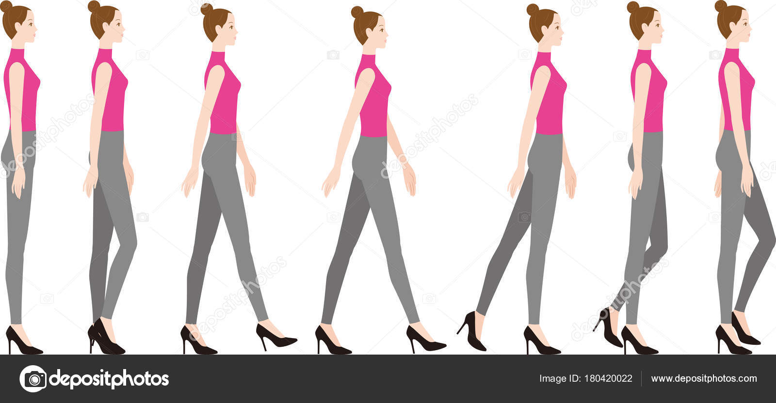 nouveau concept 3dd3d 73d8f Une femme portant des talons hauts. Comment faire pour ...