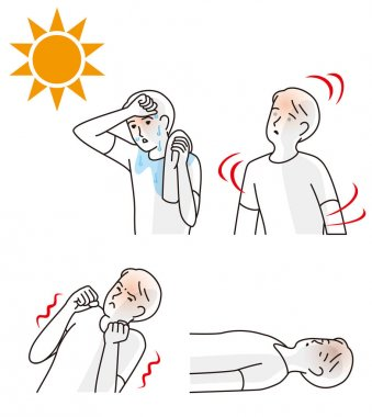 Symptoms of heat stroke