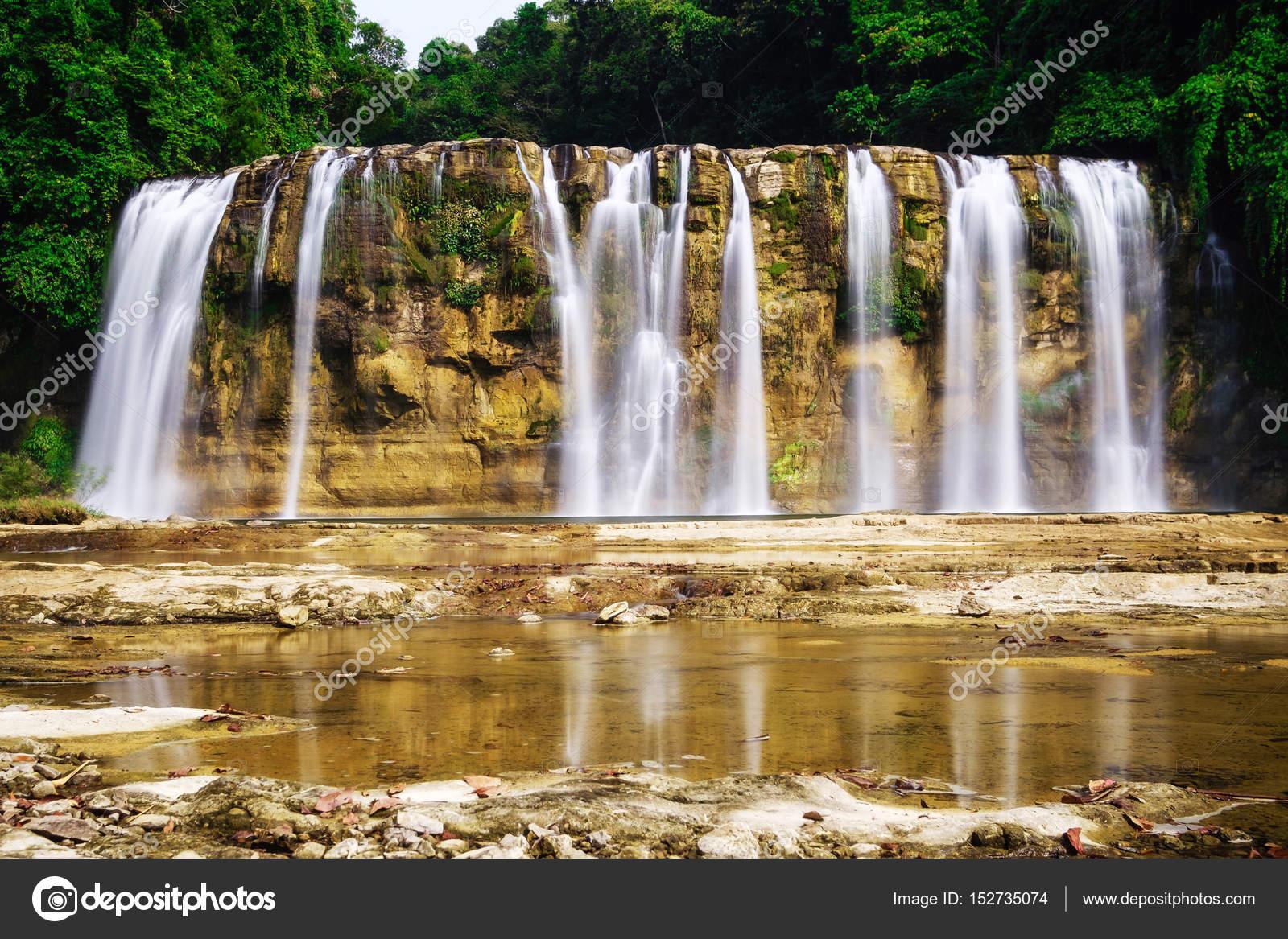 Curtain Falls Of Tinuy An Stock Photo